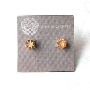 Vince Camuto gold stud earrings
